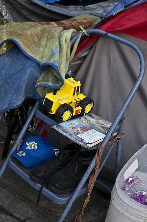 Toy Outside a Tent / Skid row DTLA