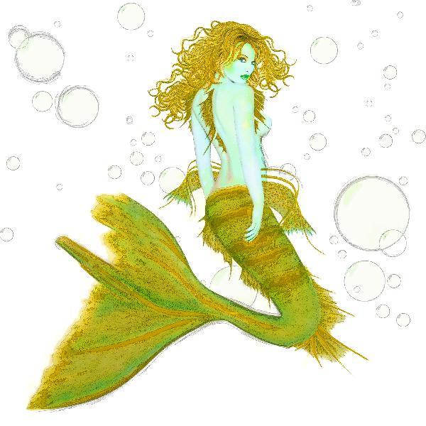 Green Mermaid; Signe...