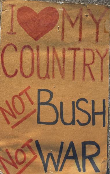 Bush-ra sign...