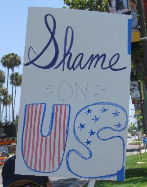 """""""Families Belong Together"""" March, Pasadena"""