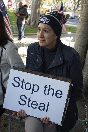 Stop The Steal LA Protester